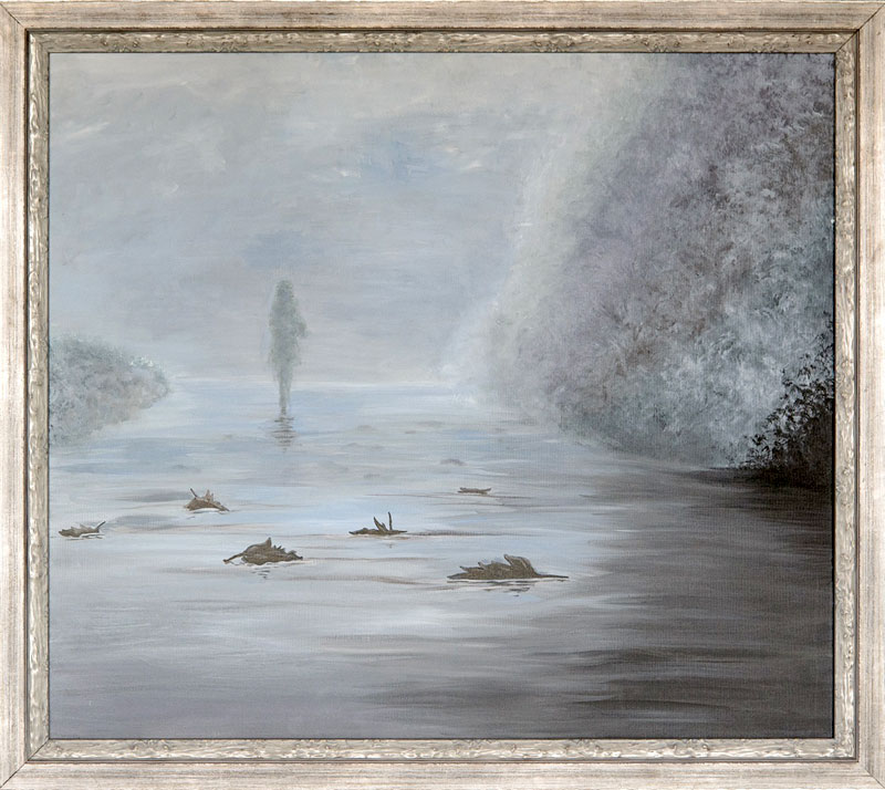 Painting «Misty morning» is a romantic artwork by Julia Ternovskaya
