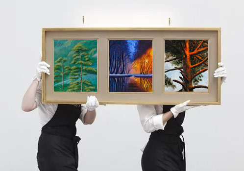 Paintings and art furniture delivery