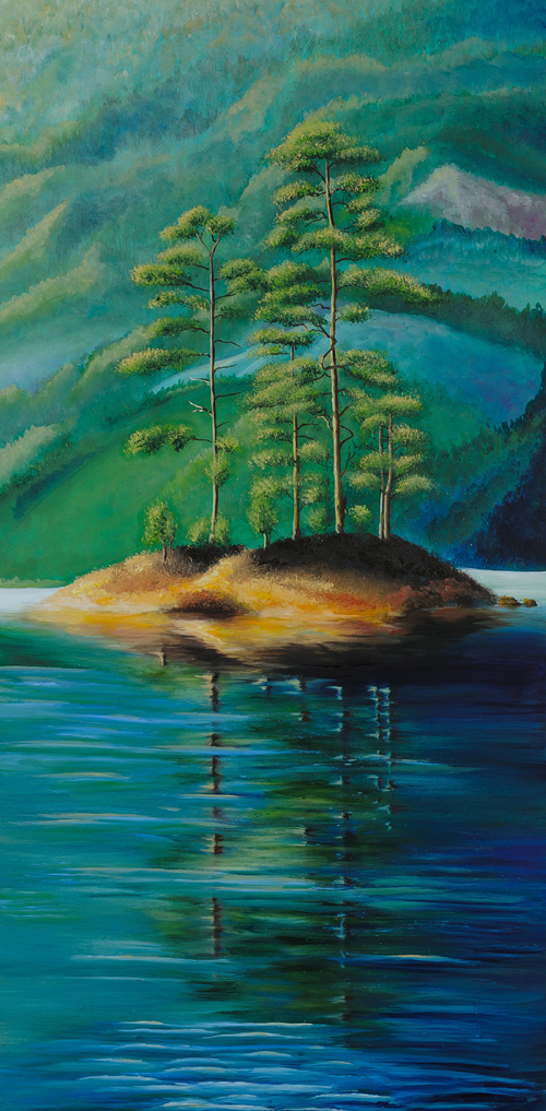 Landscape picture for living room «Islet»