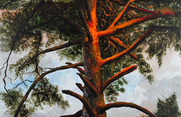 Painting «Pine and the Sun»