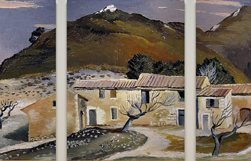 Modular painting «Winter in the Pyrenees» (triptych)