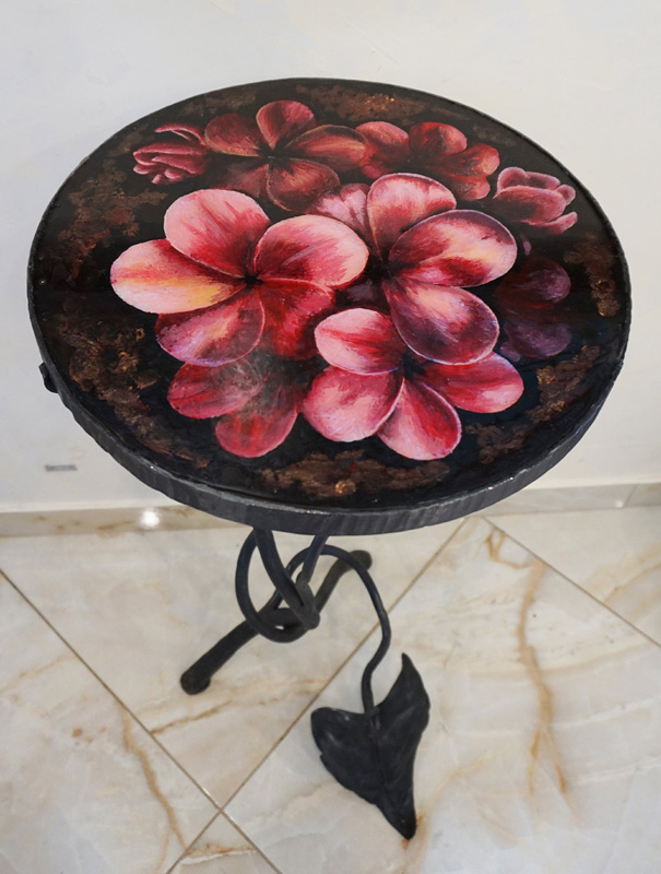 Handmade cocktail table «Flower Glade»