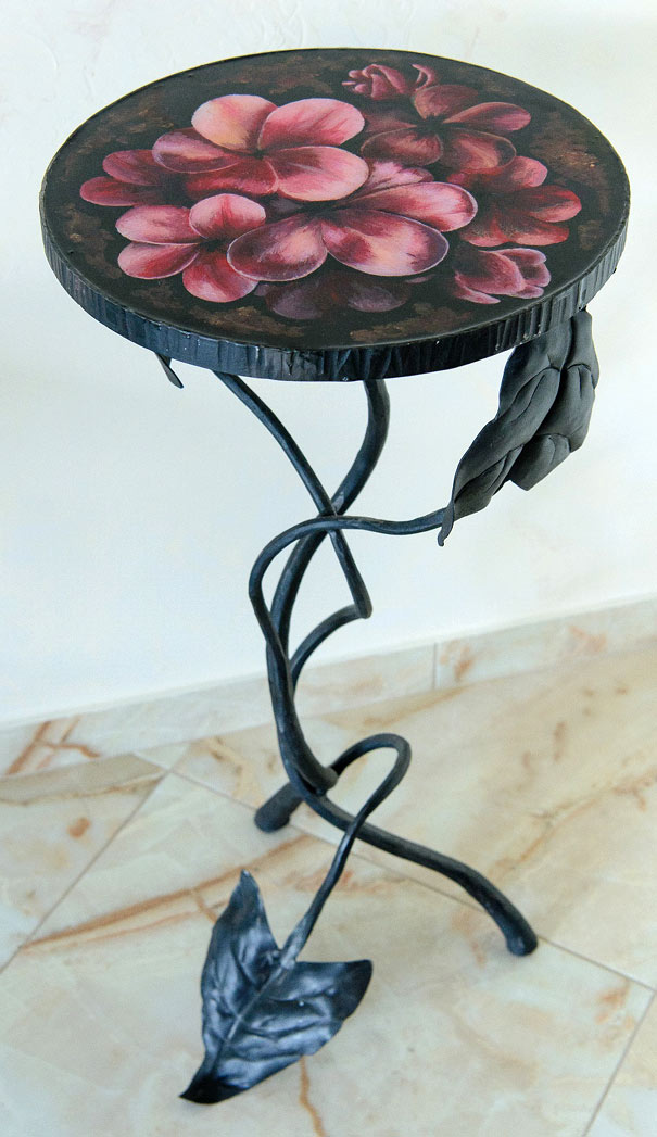 Forged cocktail table