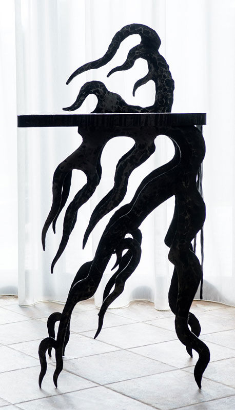 Hand forged table «Flame»