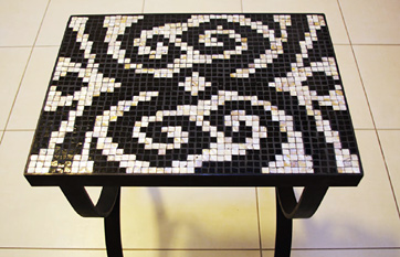 Mosaic side table «Machaon»
