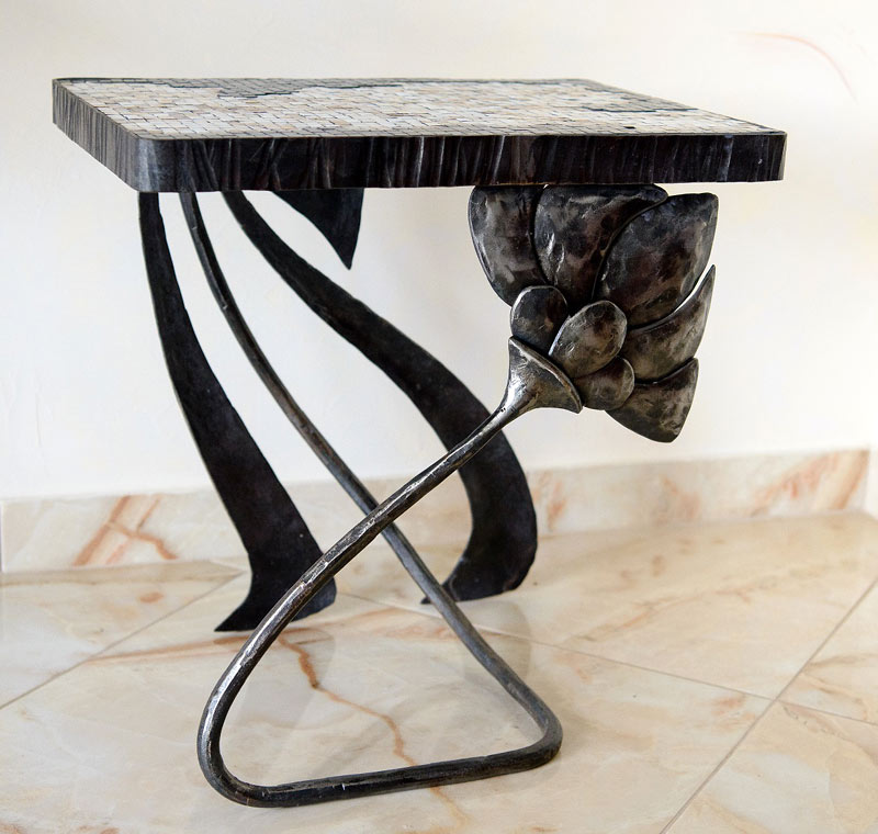 Art furniture: small console table